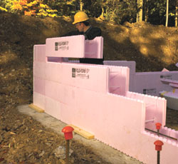 Diy icf poemsrom icf construction uses special forms to build a 5 inch concrete wall combined with 4 inches solutioingenieria Gallery